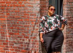 Proof that the printed blouse and pencil skirt combo isn't going anywhere this season.
