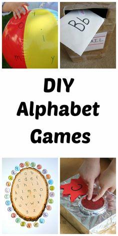 20+ DIY Alphabet Games for Kids