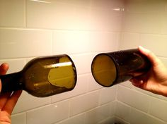 How to Cut Glass Wine Bottles (without a glass cutter...)