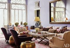 Exotic Living Room by May Daouk Decoration and Design in Beirut, Lebanon