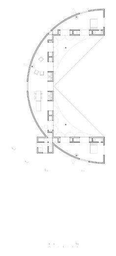 Img.24 Pezo von Ellrichshausen, Rode house, ground floor plan