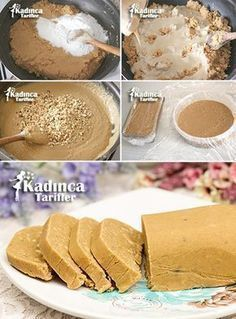Tahini Hazelnut Crispy Halva Recipe, How To? - Womanly Recipes - Delicious, Practical and Delicious Food Recipes Site, Köstliche Desserts, Delicious Desserts, Dessert Recipes, Yummy Food, Tahini, Halva Recipe, Hazelnut Recipes, Best Pie, Flaky Pastry