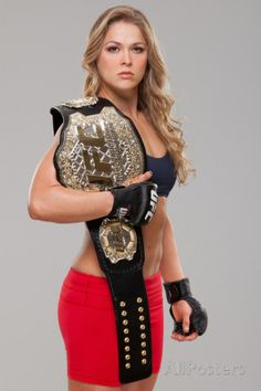"Here's one chick with no shortage of accomplishments tucked under her weighty UFC championship belt. Not only is she an Olympic medalist in Judo, she also is a astonishing UFC fighter. Did we mention Ronda ""Rowdy"". Ronda Rousey Wwe, Ronda Jean Rousey, Divas Wwe, Jiu Jitsu, Rowdy Ronda, Ufc Women, My Champion, Ufc Fighters, Pin Up Girls"