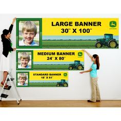 John Deere Personalized Photo Banner    Starting at $19.99 {*For A John Deere Baby Shower*} ((LOVE this!))