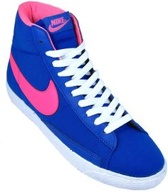 nike blazers blue and pink