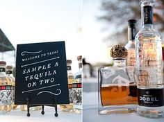 Tequila Bar. I wanted to do this at our wedding but the venue was to restrictive.