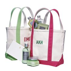 PREP SCHOOL  Smart Sac  Oh-so-preppy totes are wonderful as welcome baskets or bridesmaids' gifts, from L.L.Bean, llbean.com. Stationery, from iomoi, iomoi.com. Garden Made bath products, from Davies Gate, daviesgate.com.