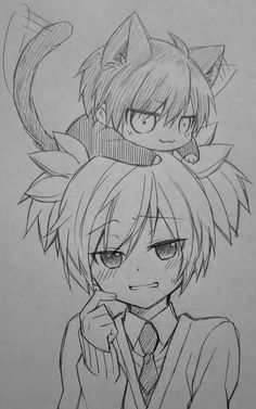 Read Karma x Nagisa 1 from the story Puro yaoi by with reads. anime, fnaf, one-shots. -Anime: Ansatsu Kyoushitsu -Nombre de l. Anime Drawings Sketches, Anime Sketch, Manga Drawing, Cute Drawings, Pencil Drawings, Manga Anime, Otaku Anime, Anime Art, Classroom Pictures