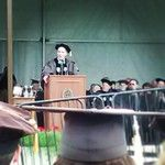 """Bill Nye """"The Science Guy"""" imparting wisdom on '13 grads."""