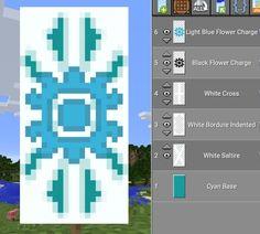 Minecraft snowflake banner
