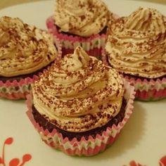 Csupamokka cupcake | Nosalty Tiramisu Cupcakes, Nutella, Muffin, Desserts, Food, Tailgate Desserts, Deserts, Essen, Muffins