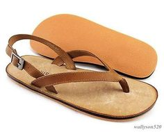 Mens casual beach strap gladiator flip flops leather sandal loafer sneaker shoes