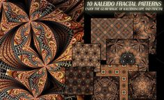 KALEIDO FRACTAL PATTERNS by CREATIVE MIND'S STORE on Creative Market