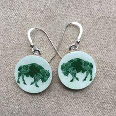 Irish Shamrock Buffalo Earrings  Buffalo by SilentMyloStudio