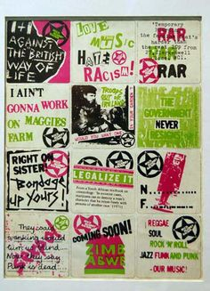 Rock Against Racism stickers.