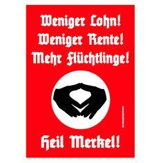Aufkleber // Sticker Aufkleber Set, 10 St/ück Angela Merkel Protest Merkel mu/ß weg Demo Deutschland Regierung Schnauze Voll Das ist nicht meine Kanzlerin!