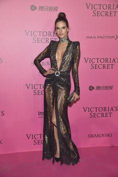 Alessandra Ambrosio in Alessandra Rich - Red Carpet, Victoria's Secret Fashion Show 2016