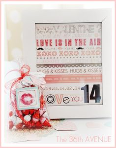 #Valentine Gift Idea: Kiss Me Bag Tutorial + Free Printable