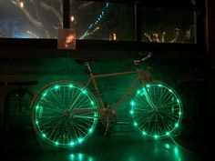 Lean Green Wheel Cool Bike Lights by CycleLights on Etsy