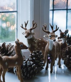 SEASONAL – CHRISTMAS – the magic of the holiday makes another appearance in an adorable presentation of holiday decor with doe a deer.