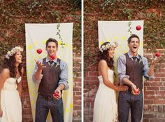 Bride and groom portraits, bohemian backyard wedding inspiration. Tinywater Photography, http://tinywater.com