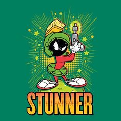 Looney Tunes Stunner Marvin The Martian Women& T-Shirt - Kelly Green - XXL - Kelly Green-female Martian Man, Marvin The Martian, Looney Tunes Cartoons, Watch Cartoons, Disney Mural, Cool Car Drawings, Motorcycle Paint Jobs, Classic Cartoon Characters, Fictional Characters