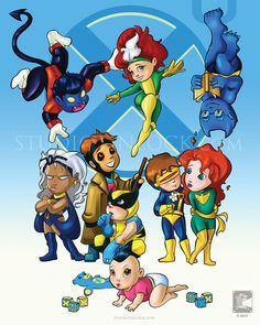 "X-Babies (X-Men) - 8x10"" Print via Etsy"