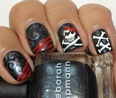 Pirate themed nails