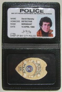 Id badge starsky hutch david 80 Tv Shows, Old Shows, Great Tv Shows, Ragdoll Cats For Sale, Cops Tv, Paul Michael Glaser, Police, David Soul, Cop Show