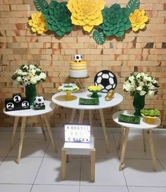 2nd Birthday Cake Boy, Football Theme Birthday, Football Themes, 30th Party, Outdoor Furniture Sets, Outdoor Decor, Cakes For Boys, Dessert Table, Baby Shower