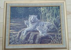 Stephen Gayford White Tigers Special Edition Giclee Canvas on Board - Signed