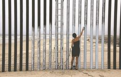 Armed with just a stool and paint, Ana Teresa Fernandez erased a little fragment of Tijuana's border wall beach with San Diego, recreating pictorially...
