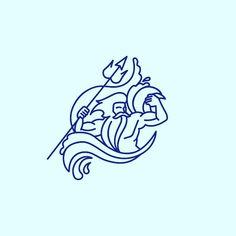 A. Contour Logo Neptune/ poseidon ;) #abstract #art #design #illustration #logo #graphic #artist #color #myart #drawing #designer #graphicdesign #monogram #poseidon #pegasus #monochrome #visual #mark #blue #red #swag #style #calligraphy #white #love #colorfull #instacool #amazing #neptune #logoinspirations