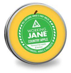 Working Jane Country Apple - all natural hand & food repair. Honeycrisp Apples, Apple Crisp, Animals For Kids, The Balm, Honey Crisp, Moisturizer, Lemon, Healing, Skin Care