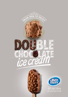 DAITY ICE CREAM ADS Amiral Plus(Amiral +) Double Chocolate Ice cream Ice Cream Logo, Ice Cream Poster, Ice Cream Menu, Ads Creative, Creative Advertising, Advertising Design, Sports Graphic Design, Graphic Design Posters, Menu Design