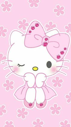 Wallpaper by artist unknown kawaii wallpaper hello kit Sanrio Hello Kitty, Hello Kitty Clipart, Hello Kitty Art, Hello Kitty Themes, Hello Kitty My Melody, Hello Kitty Birthday, Walpaper Hello Kitty, Pink Walpaper, Hello Kitty Wallpaper