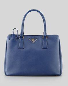 Saffiano Small Gardener\'s Tote Bag, Blue by Prada at Neiman Marcus.