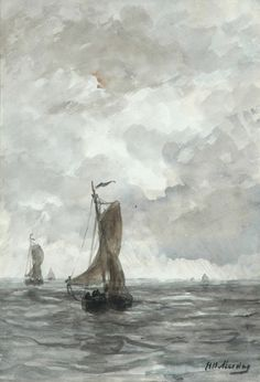 Hendrik Willem Mesdag (1831-1915) - Bringing in the catch