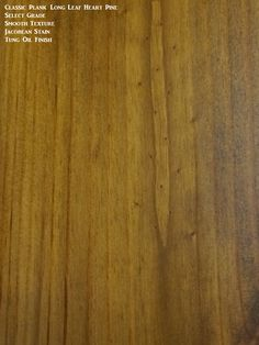 A select grade option finished with a stain and tung oil finish