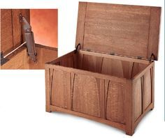 How to Build an Arts and Crafts White Oak Blanket Chest - Includes in progress photos and a material / diagram PDF for download. Free from Woodworker's Journal