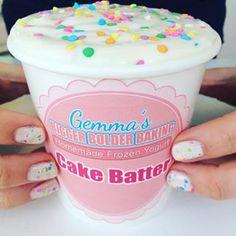 {COMING TOMORROW} 5 incredible Frozen Yogurt flavors made without an ice cream machine. Stay tuned #gemmastafford #biggerbolderbaking #frozenyogurt #youtube #bakingvideos #cakebatter #sprinkles