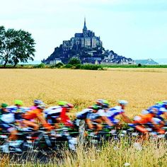 Le Mont Saint Michel in Normandy is the official start for letour in 2016  Photo by @jstartt