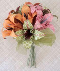 Bouquet de origami