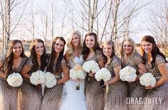 A #NYE #wedding party! #glam #bridal #inspiration