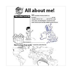 Add a personal touch to your shoebox with the All about me sheet for children.