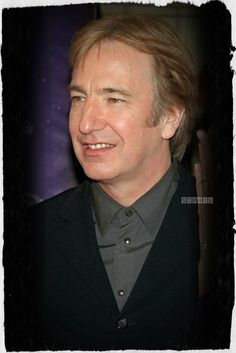 """Alan Rickman -- I'm thinking this may be from around 2001 -- the sideburns look similar to how they were in """"Blow Dry."""""""