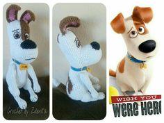 Crochet dog Max from The Secret Life od Pets Pet Max, Secret Life Of Pets, Crochet Projects, Christmas Ornaments, Dog, Holiday Decor, Crochet Animals, Diy Dog, Christmas Jewelry