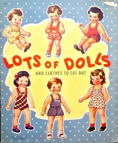 Lot's of Dolls and Clothes Paper Doll Book 1947 Uncut Lowe   eBay