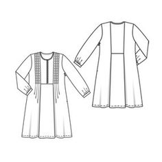 View details for the pattern A-line Tunic Dress on BurdaStyle. Burda Patterns, Sewing Patterns, Girl Dress Patterns, Sewing Clothes, Girls Dresses, Cute Outfits, Tunic, Clothes For Women, My Style