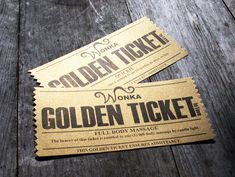 Willy Wonka's Golden Ticket Love Coupons - PRINTABLES Could be a cute big/little reveal (hide them in chocolate bars) or invites. Alpha Sigma Tau's Golden Ticket! :)